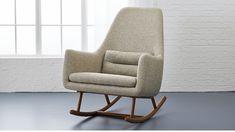 Saic Quantam Padded Rocking Chair + Reviews   CB2