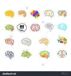 Set Of Brain Vector Illustration Sign Set - 327397190 : Shutterstock
