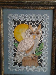 Art nouveau owl from Pergamano Randen en versieringen book by Martha Ospina