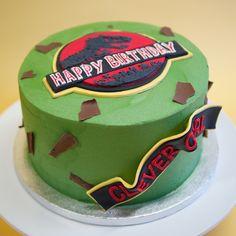 Jurassic Park Birthday Cake | Crumbs & Doilies Park Birthday, Boy Birthday, Birthday Cake, Birthday Parties, Birthday Ideas, Jurassic Park Party, Jurassic Park World, Jurrasic Park Cake, Dinosaur Cake