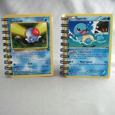 Mini Pokemon Notebook Set of 2 Squirtle & by StalkingMarla on Etsy