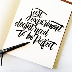 Just experiment. #calligrafikas #brushlettering