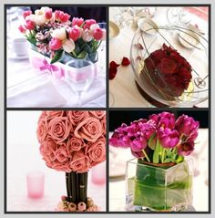 Trends are always changing for wedding decor. Wedding floral arrangements are also evolving. We see more innovative and original use of flowers. Fiesta Decorations, Wedding Decorations, Dream Wedding, Wedding Day, Elegant Centerpieces, Save The Date, Pretty In Pink, Flower Arrangements, Glass Vase