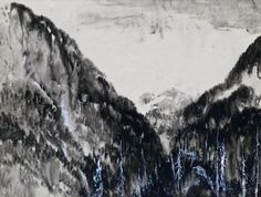 Lot 392A- Kenneth Callahan (1905-1986 Washington) ''Cascade Mountains'' Tempera & Sumi Ink on Paper 18''x23'' Image. An intricate mountain landscape for Callahan. Signed l.r. and titled on verso. Woodside Gallery, Seattle label on verso. Professionally reframed with a total size of 28''x33''.