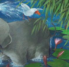 Juegos de elefante: Tambo con su amigo el pájaro