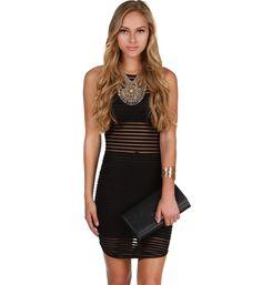 Black Sweet Illusion Midi Dress at WindsorStore