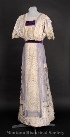 Chiné Silk Gown, 1905-07