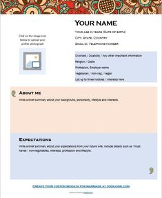 sample resume bio data 9 Sample Biodata Format For Marriage With Bonus Writing Tips! Download Cv Format, Biodata Format Download, Resume Format, Sample Resume, Marriage Biodata Format, Bio Data For Marriage, Writing About Yourself, Image Icon, Hobbies And Interests