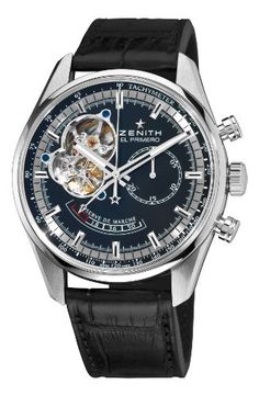 Zenith Men's 03.2080.4021/21.C496 Chronomaster Open Power Reserve Black Dial Watch $6,300.00