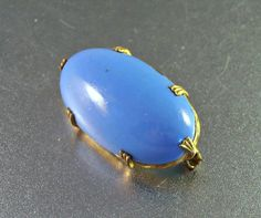 Victorian Chalcedony Bar Pin Collar Brooch by LynnHislopJewels