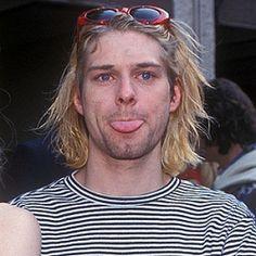 gambar kurt cobain, nirvana, and black and white