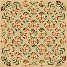 Dresden Bloom Quilt Pattern by Edyta Sitar of Laundry Basket Quilts