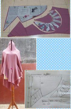 Drape Dress Pattern, Abaya Pattern, Draping Techniques, Sewing Techniques, Easy Sewing Patterns, Coat Patterns, Baby Girl Dress Patterns, Sewing Clothes Women, Origami Fashion