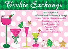 Cookie Exchange Invitation Ornament by CutiesTieDyeBoutique, $15.00