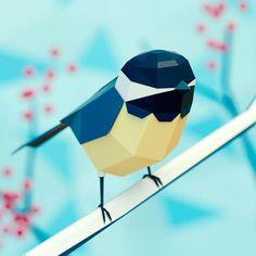 A linda arte 3D Low Poly de Jeremy Edelblut - O artista Jeremy Edelblut cria animais 3D com cores bastante vibrantes e estilo Low Poly. Confira e inspire-se com sua arte.