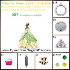 Disney's Princess and the Frog inspired Living Locket - Origami Owl