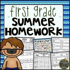 First Grade Summer Homework {Editable}This product includes resources for student leaving the first grade and entering the second grade in the fall. Each Homework Packet has an Instruction/Calendar Page, corresponding work pages and Reading Log.  The activities are aligned with First Grade TEKS and CCSS.