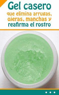 #gel #casero que #eliminar #arrugas, #ojeras, #manchas y #reafirmar el #rostro #rejuvenecimiento #facial #piel