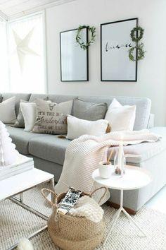 jeté de canapé pas cher gris dans le salon moderne