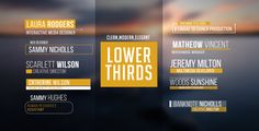 Lower Thirds (Corporate) #Envato #Videohive #aftereffects