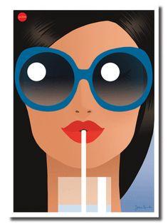 Summer Sun, Blue Pop Art, Jason Brooks, Poster Photo, Plakat Design, Illustration Mode, Art Watercolor, Arte Pop, Grafik Design, Portrait Art