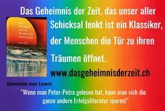 """Die beste Zeit, etwas Sinnvolles für Ihr Leben zu tun, ist jetzt. """"Also starten Sie - jetzt sofort!"""" Petra, Trauma, Author, Good Times, Good Books, Swiss Guard, Future, Literature, Reading"""