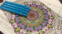 Colored with the #SpectrumNoirColorista range from @spectrumnoir & #crafterscompanion #coloring #coloringbook #adultcoloring