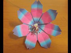 286.종이접기.학세스접기.오월의장미.발렌타인선물접기.origami - YouTube