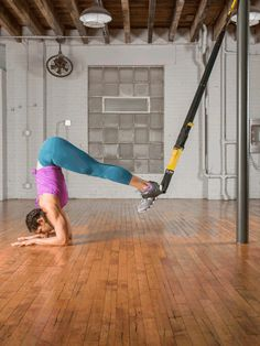 11 Surprising Ways to Use TRX for Yoga #trx #yoga http://greatist.com/move/trx-yoga-workout