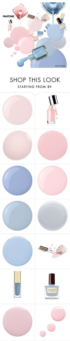 """""""Pantone Beauty: Rose Quartz and Serenity"""" by sharmarie ❤ liked on Polyvore featuring beauty, Essie, NARS Cosmetics, Smith & Cult, Deborah Lippmann, Dolce&Gabbana and Topshop"""