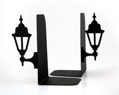 Metal Bookends Old Lamp Posts // book by DesignAtelierArticle