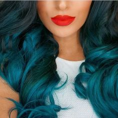 Kylie Jenner's Ombre Teal Extensions More: Destination Procrastination Dye My Hair, Your Hair, Kylie Jenner, Kylie Hair, Cute Hair Colors, Teal Hair, Turquoise Hair, Violet Hair, Bright Hair