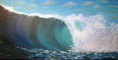 Australian Waves  Original painting on Canvas  by Borettoart, $382.00