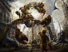 digital steampunk art - Google Search