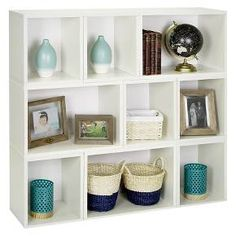 Way Basics Eco Stackable Oxford Modular Bookcase and Storage Shelf - White