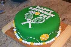 Tennis Birthday Cake Kids Parties Crafts Ideas Etc Fondant Cakes, Cupcake Cakes, Volleyball Cakes, Tennis Cake, Rodjendanske Torte, Dad Cake, Cake Kids, Bithday Cake, Theme Sport