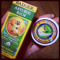 @30rixx 実用的な #BADGER 2つ増えた。リップバームと虫除け。他のバームは会社に常駐。頭痛のよく使ってる。#iherb