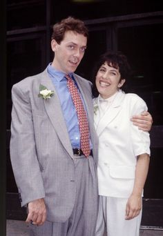 Hugh Laurie and Jo Green. 1989