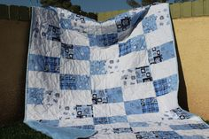 UNC quilt for the world's biggest Tarheel fan: my grandmother.