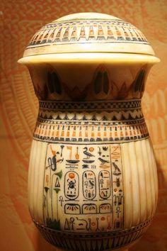 Alabaster jar bearing the name Tutankhamen
