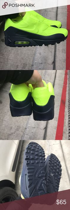 NIKE AIR MAX X SACAI SAMPLE 90 7 women's 4.5 UK Brand new no box volt and navy blue sole Nike Shoes Sneakers