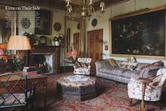 The World Of Interiors  - Robert Kime - Decorating with Antique Clocks, find similar at Time-Out