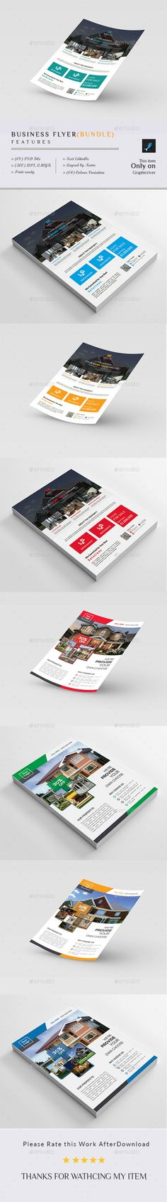 Real Estate Business Flyer Templates PSD