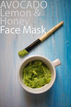 DIY Avocado, Lemon & Honey Face Mask | FamilyFreshCooking.com