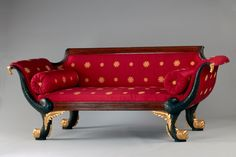 An 1810 antique sofa inside of the Red Room. White House - Interior-Design