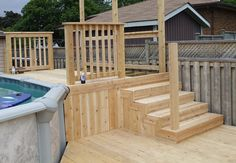 Cedar deck by Flamborough Patio