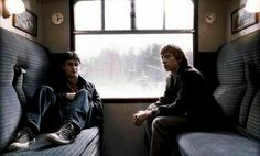 Harry potter.  I wish I could chill on the hogwarts express like these two.