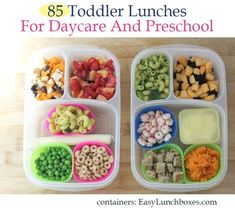 85 Toddler Lunch ideas for Daycare and Preschool