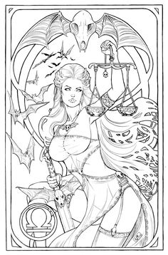 Lady Death Libra (Sketch) #LadyDeath (Cover Artist: Nei Ruffino)