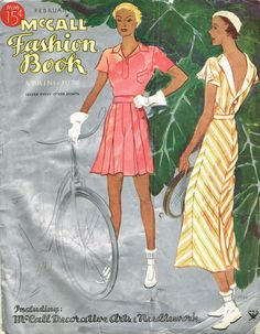 McCall Fashion Book, Spring 1934 featuring McCall 7671 and 7663